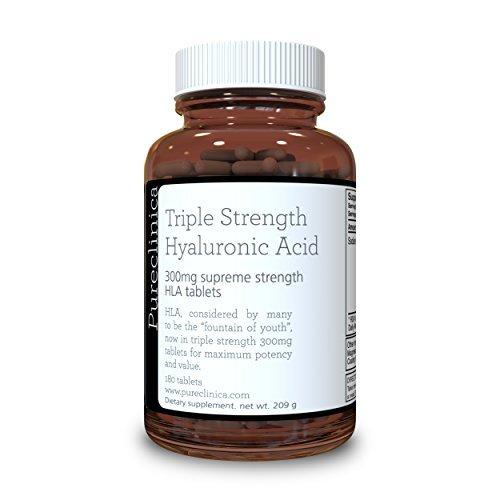 Acido Ialuronico 300mg x 180 compresse (3 mesi scorta). Tripla Forza ialuronico acido. 300% più forte tutti gli altri HLA compressa. SKU: HLA3