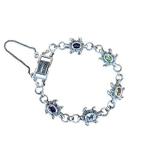 Sterling Silver Marcasite Turtle Bracelet