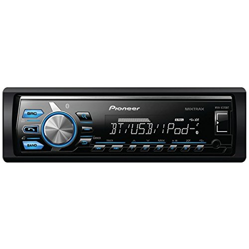 Pioneer Mvh-X370Bt Single-Din In-Dash Digital Media Receiver With Short Chassis Design, Mixtrax(R), Bluetooth(R), Siri(R) Eyes Free, Usb, Pandora(R) Ready & Android(Tm) Music Support