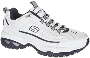 Skechers Energy After Burn Mens Sneakers Wide Width White/Navy 11 W