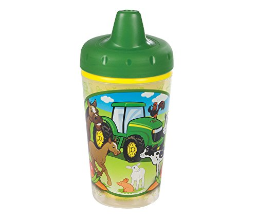 John Deere Insulated Sippy Cup with One Piece Lid - 9 oz, 2 pack - 1