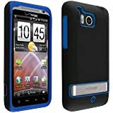 VZW6400SILBB-OEM Verizon Double Cover Case for HTC Thunderbolt 6400 (Black / Blue)