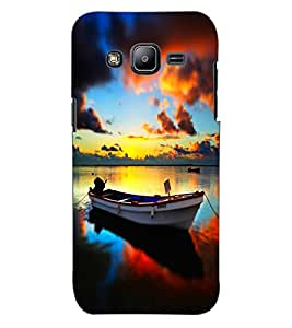 ColourCraft Beautiful Boat Design Back Case Cover for SAMSUNG GALAXY J2 J200G