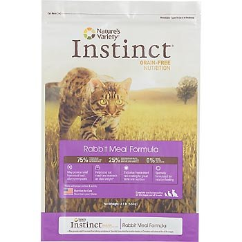 See Instinct Grain-Free Rabbit Meal Dry Cat Food by Nature's Variety, 5.5-Pound Package