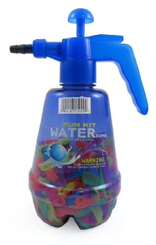 Fun Kit Water Bomb with Water Balloons and Water Pump for Kids (Colors May Vary)