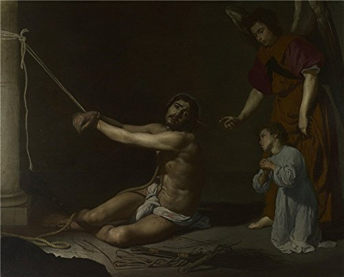 'Diego Velizquez Christ Contemplated By The Christian Soul ' Oil Painting, 10 X 12 Inch / 25 X 32 Cm