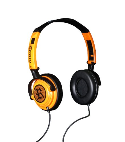 Fischer Audio Draco Drop 'Dem Beats Orange Headphones For Portable Music Player With Mellow Tone And Music Fidelity