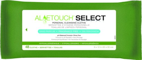 Aloe Touch WIPE, ALOETOUCH, FRAG FREE, 8X12, 48/PK - 12 Pack - 1