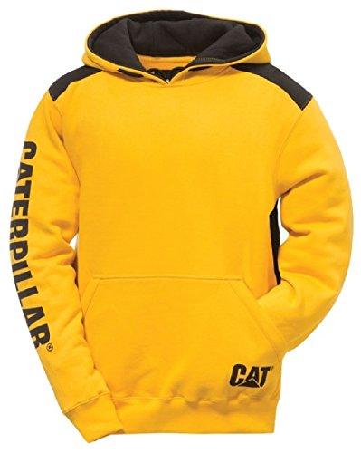 A forma di gatto che Caterpillar Workwear Logo Panel - da uomo con cappuccio felpa con cappuccio Jumper sudore-Shirt
