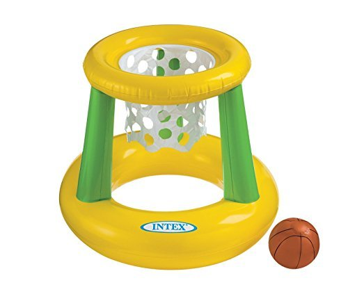 Intex Floating Hoops Game Inflatable Backyard Swimming Pool Fun Net & Ball by Intex