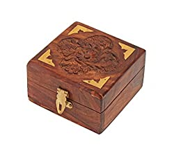 ITOS365 Handmade Wooden Small Jewellery Box for Women Jewel Organizer