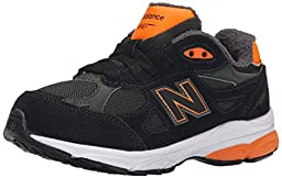 New Balance KJ990P Running Shoe (Infant/Little Kid), Green/Orange, 1 M US Little Kid