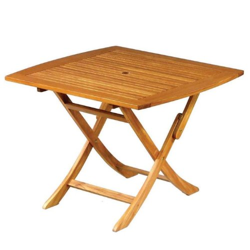 Royal Tahiti Outdoor Furniture: 32-Inch Square-round Folding Table