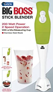 Big Boss 200 Watt Power 2-speed Operation Immersion Hand-stick Blendermixer With A Mixmeasuring Cup by E.Mishan & Sons, Inc.