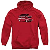 Chevy 65 Corvair Mona Spyda Coupe Hoodie, Red, 2XL