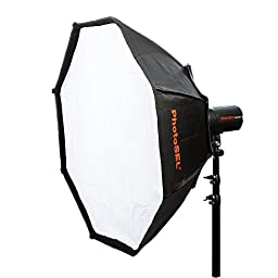 PhotoSEL SBSC150 150 cm Octagonal Softbox - S-Type Mount, for PhotoSEL / Bowens Studio Flash