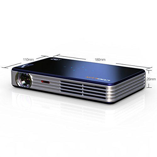 Coolux® X3S Led Pico Mini Dlp 3D Projector Beamer Portable Porket Handhold Compact Size High Definition 1280*800 Support 1080P Hdmi For Home Cinema Meeting Widescreen
