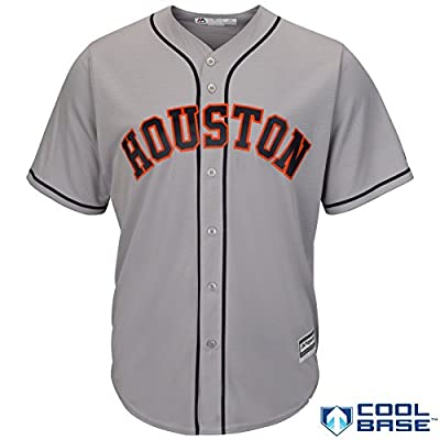 Houston Astros MLB Men's Cool Base Road Jersey - Grey