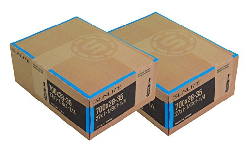 2 PACK - Tubes, 700c x 28-35 PV 32mm PRESTA Valve, Bicycle Inner Tube, Sunlite (Puncture Resistant Inner Tube compare prices)