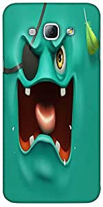 Snoogg Pirate Ghost 2682 Hard Back Case Cover Shield For Samsung Galaxy A8 4G