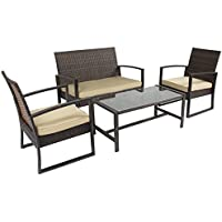BCP 4-Piece Cushioned Patio Furniture Set