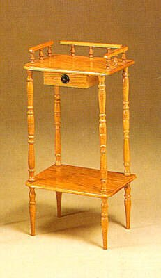 Traditional Square Telephone Table Stand With One Accent Drawer And One Shelf In Oak Finish. (Item# Vista Furniture Cf4309) front-1074486