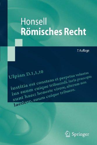 Römisches Recht (Springer-Lehrbuch) (German Edition)