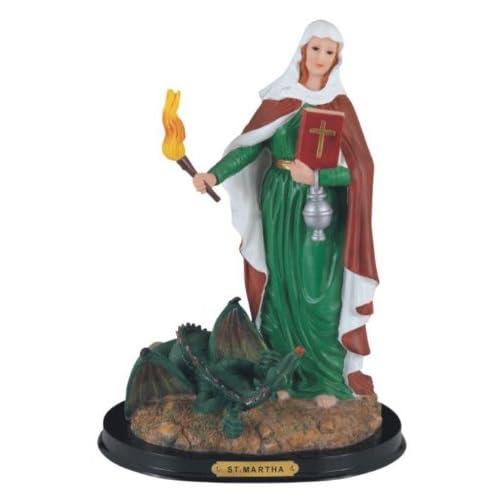 12 Inch Saint Martha Holy Figurine Religious Decoration Statue Decor