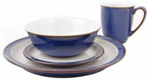 Denby Imperial Blue 16 Piece Boxed Tableware