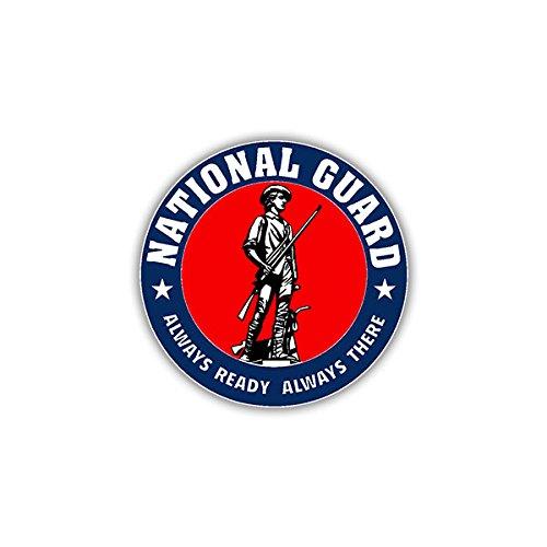Aufkleber / Sticker- National Guard USA Militär US Army Armee Nationale Einheit Wappen Wappen Emblem passend Für VW Golf Polo Gti MBW 3er Mercedes Audi Opel 7x7cm #A1110