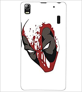 PrintDhaba Mask D-5125 Back Case Cover for LENOVO A7000 PLUS (Multi-Coloured)
