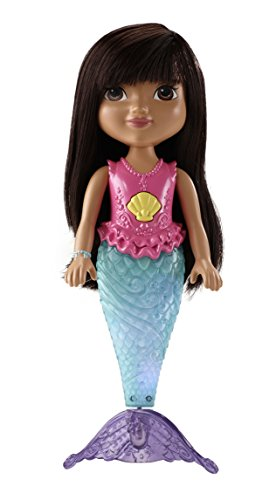 Fisher-Price Nickelodeon Dora and Friends Sparkle and Swim Mermaid Dora  - 1