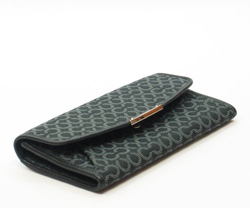 Coach   Coach 49611 Madison Needlepoint Op Art Slim Envelope Wallet Black