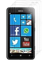 3x kwmobile film de protection pour écran Nokia Lumia 625 TRANSPARENT. Qualité supérieure