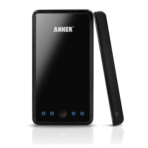 Anker Astro3E 10000mAh External Battery Pack High Capacity Power Bank Charger (Dual 5V 3A USB Output) for Smart Phones, Android Phones, PS Vita, GoPro; iPad mini, iPhone 5 (Lightning Cable not Provided); iPhone 4S, iPad; Samsung Galaxy S4, S3, S2, Galaxy Note 2; Google Nexus 7 Nexus 10; HTC Sensation, One X V S, EVO 4G, Thunderbolt; Nokia Lumia 920 900 N9; Motorola Razr; Blackberry Z10; Sony Xperia Z [4 cellphone connectors included, 0.6 inch slim design, customized for Apple & Android Devices]