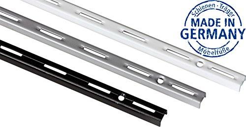 IB-Style - Wandschiene single PRO STÜCK | Einreihiges System | 5 Abmessungen | 3 Farben | L 14,5 cm SCHWARZ - für Regalträger Regalsystem Winkel Regalhalter Regalwinkel - MADE IN GERMANY