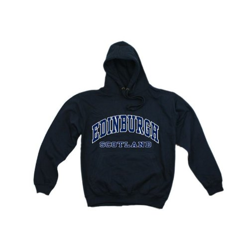 Mens Edinburgh Scotland Print Hooded Sweatshirt Jumper/Hoodie (XS - 32inch - 34inch) (Navy)