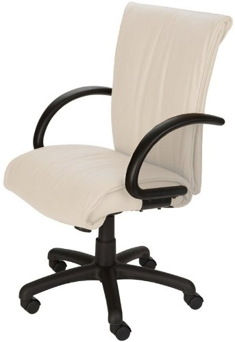 Best Zen High Back White Top Grain Leather Chair [CEL-7110-B-PEARL ...