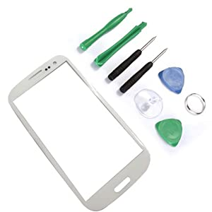 White Outer Screen Glass lens for Samsung Galaxy I939 I535 SIII S3 + free tools