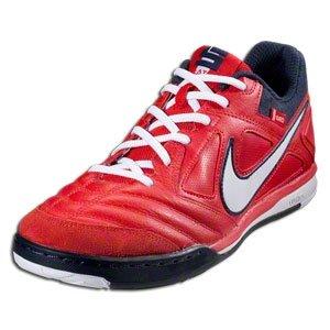 Nike Men's NIKE NIKE5 GATO LTR INDOOR SOCCER SHOES 12 (UNIVERSITY RED/WHITE/OBSIDIAN)