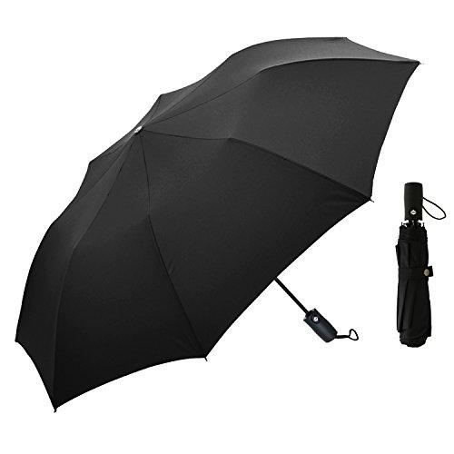 DigHealth折りたたみ傘 自動開閉折り畳み傘 紳士 折り畳み傘軽量 ワンタッチ自動開閉 撥水 大きいコンパクト設計カバンにも入る 大人二人でも安心して入れる傘 ブラック シンプル8本骨