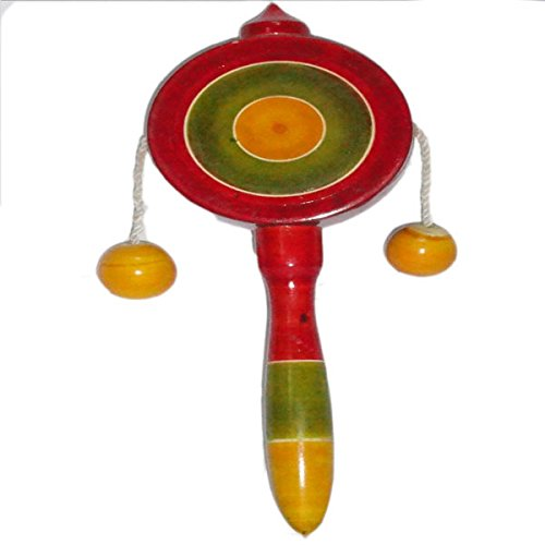Games Funwood Games Dug- Dugi Rattle Wooden Toy For New Born Babies (Multicolor)