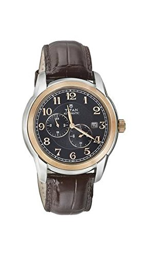 Titan Analog Black Dial Men's Watch - 90033KL01J at amazon