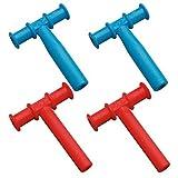 Chewy Tubos Mordedor, 4unidades), color azul y rojo