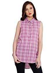 Oxolloxo Women purple cotton shirt