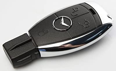 Mercedes Benz Ignition Key 4GB 2.0 USB Flash Drive Memory Stick. Keyring Attached. from NUT