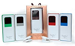 Signature VMP 23 10400mah Digital Power Bank 3 USB Port , 2.1 Charging Capacity with Indicator Display Portable Charger External Battery for iPhone 6s Plus 6 5s 5 4S, iPAD Mini, Samsung Galaxy S6 S5 S4 Note, Nexus, Smartphones and Tablets(Colour as per available)