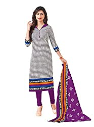 Taos Brand cotton dress materials for women womens dress materials cotton salwar suit New Arrival latest 2016 womens party wear Unstitched dress materials for women (1417summer__purple and blue_freesize