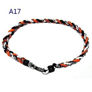 athletic white black orange 18 in titanium