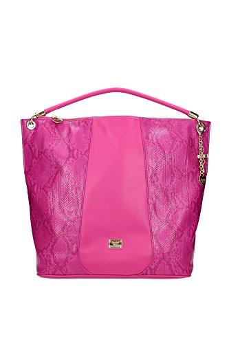 Borse a Spalla Blugirl - Blumarine Donna Pelle Fuxia e Oro 527004701 Fuxia 13x35x36 cmEU
